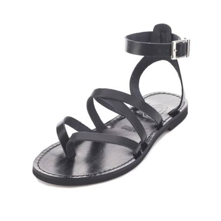 Sandalo alla romana in cuoio da donna Rossella