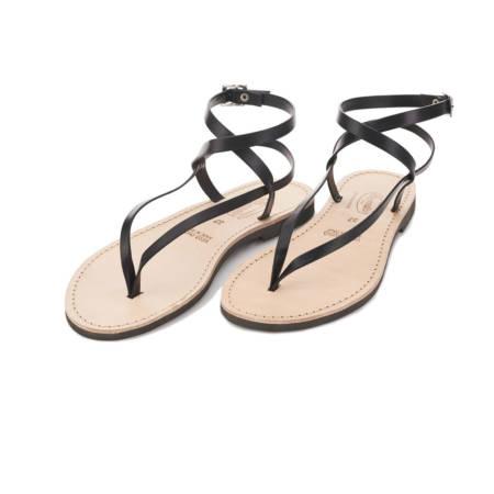 Sandalo alla Romana in cuoio Livia