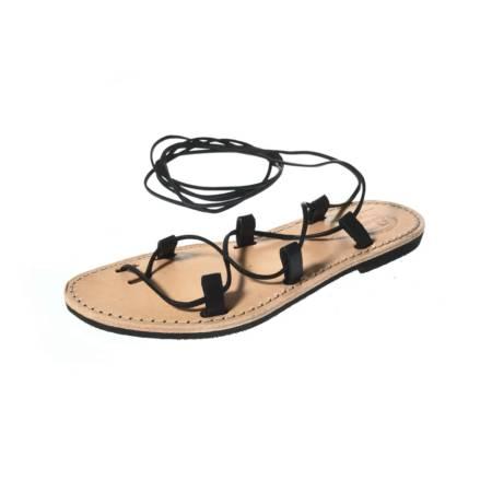 Sandalo alla Schiava da donna in cuoio
