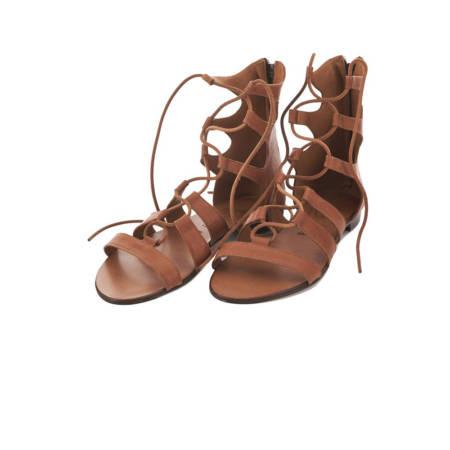 Sandalo alla Schiava da donna in cuoio Marzia