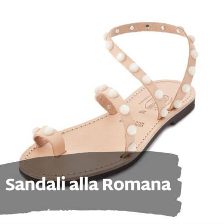 Sandali alla Romana in cuoio