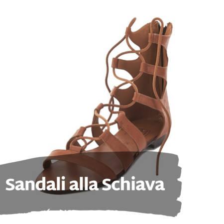 Sandali alla Schiava in cuoio