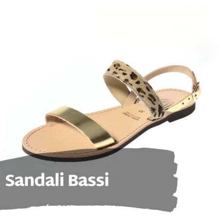 Sandali Bassi in cuoio